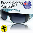 Mens Sport Sunglasses Pegasus Eyewear Checkered Black Blue White Sunnies PG4805