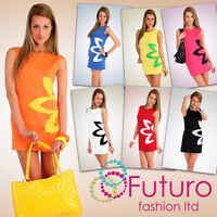 Women's Classic & Elegance Dress with Flower Motive Tunic Style Size 8-16 PA03