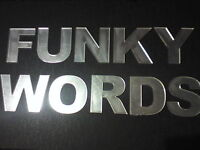 ACRYLIC MIRROR LETTERS/ALPHABET/UPPER/LOWER CASE