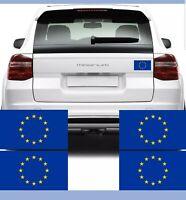 4x European Union Flag Car Van Stickers (EU EUROPA Bike Decal Graphics)