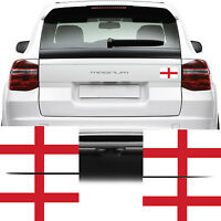 4x England Flag Car Van Stickers (St Georges Cross Bike Decal Graphics)