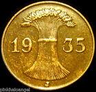 Germany  German Third Reich 1935J Reichspfennig Coin