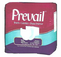 80 Prevail Adult Briefs, Size Medium, Disposable Diapers, Cloth-Like, Absorbent