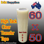 60cmx50m High Tack Clear Tramsfer / Application Tape for Sign Stickers no