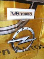 "Original Opel Schriftzug/Aufkleber "" V6 TURBO "" Neu!!!"