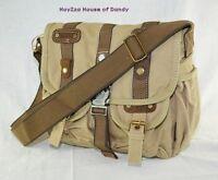 Canvas Vintage Look Casual style Medium Size Shoulder Messenger Bag-(B3116)Khaki