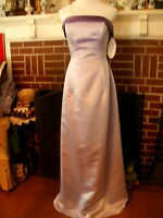 Panoply Violet Light Purple Satin Strapless Gown Floor Length Dress NWT size 7/8