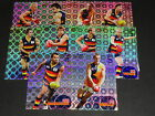 2008 AFL SELECT CLASSIC HOLOFOIL TEAM SET OF 10 CARDS ADELAIDE CROWS