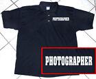 Photographer Polo Shirt, Black, Camera Video, Professional, Men's, Cotton, S-5XL