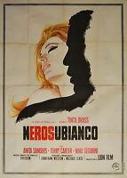 manifesto 4F film NEROSUBIANCO Anita Sanders Tinto Brass 1969 art Casaro