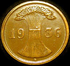 Germany - German Third Reich - German 1936D 2 Reichspfennig Coin
