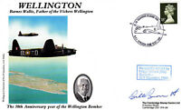 Wellington Cover Signed  W Burnett 617 Sqn 1944,Flight Engineer.