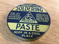 VINTAGE COLLECTABLE TIN SOLDERING FLUX PASTE TYNE CHEMICAL COMPANY RETRO NOS BOX