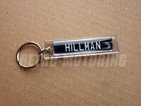 Hillman Keyring - Classic UK Numberplate style Car Keytag / Retro Auto Keyfob