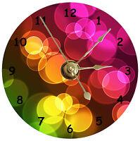 BRAND NEW Colorful Polka Dot Pattern CD Clock