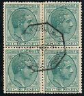 Bloque 4. 50 Cts Alfonso XII 1878. AMBULANTE, nº 196 º.