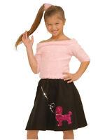 Sock Hop Top 50's Poodle Shirt Dress Halloween Child Costume Accessory 2 COLORS