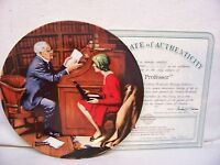"""""""The Professor"""" Collector Plate Norman Rockwell-Knowles"""
