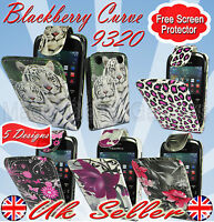 NEW STYLISH PRINTED DESIGN MAGNETIC FLIP CASE COVER FOR BLACKBERRY CURVE 9320