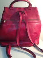 leather backpack-style bag