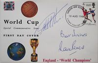 England 1966 World Cup FDC Signed cover Geoff Hurst Martin Peters PROOF West Ham