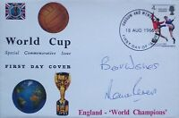 England 1966 World Cup signed FDC cover Martin Peters PROOF Spurs West Ham Utd