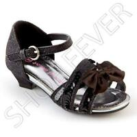 GIRLS SUMMER SANDALS INFANTS BRIDESMAID WEDDING DANCE PARTY FANCY STRAPPY SHOES