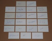 Signed 21 England 1966 World Cup cards Bobby Charlton Ball Flowers Banks Hurst