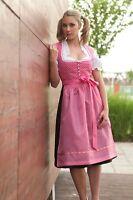Midi Dirndl Balkonett Dirndl Gr 40 Pink+ Dirndl Schürze Trachtenmode für Damen