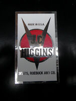 J C Higgins badge decal