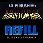 Refill Cards for 3 Card Monte (Blue) Magic Trick