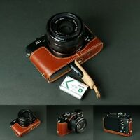 Handmade Genuine real Leather Half Camera Case bag cover for Sony RX1R RX1