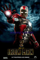 IRON MAN 2 movie 27x40 BANNER Robert Downey vinyl poster IMAX the avengers team