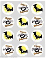 12 Halloween Schläger & Spinne Cupcake Dekoration Essbar Kuchen Topper