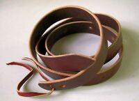 Amish Made Genuine Leather Western Latigo Cinch Strap 6-foot  MEDIUM OIL BROWN