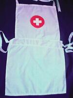 ADULTS NURSE APRON IN WASHABLE COTTON FABRIC WITH CROSS - FANCYDRESS- THEATRE-