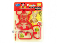 Japan Made Disney 2pcs Mickey Mouse Cookie Cutter Stamp Mold + Stencils