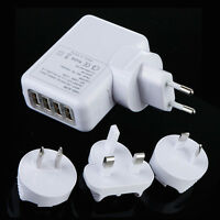 4 Ports USB Travel AC Wall Charger Adapter For iPhone 5S 5C 5 4S 4 iPad Air Mini