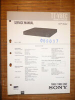 Service Manual für Sony TT-V8EC  ,ORIGINAL