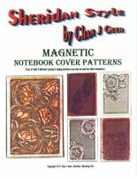 Sheridan Style Magnetic Notebook Cover Patterns #2 by Chan Geer (Leather Design)