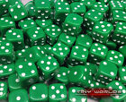 50 Six Sided Dice - 12mm Green - Wargaming D6 Warhammer Orks Orcs Goblins Nurgle