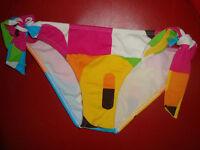 """NWT ROXY Junior's Sexy Swimsuit Bikini Bottom """"Retro Tie Side Pant"""" Sz S,L  $36"""