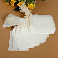 100 Lot New Disposable Empty Tea Bags Loose String Filter Paper Herb 5cmx6cm