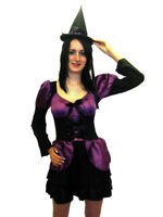 Halloween Black &Purple Cutie Witch Fancy Dress Costume