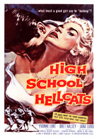 Vintage 1950s Movie Poster High School Hellcats Rock n Roll Rockabilly American