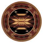 """6x6 Round Area Rug Southwest Southwestern Southern Medallion Size 5'4"""" NEW"""
