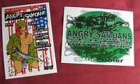 ANGRY SAMOANS Vinyl Decals waterproof stickers lot x 2 Punk Rock