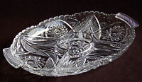 Divided Relish Dish in Pressed Glass