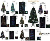LED Fibre Optic Christmas Tree Artificial Pre-Lit Xmas Home Light Up Decorations