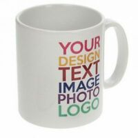 PERSONALISED PRINTED TEA COFFEE MUG CUP CUSTOM GIFT YOUR IMAGE PHOTO TEXT DESIGN